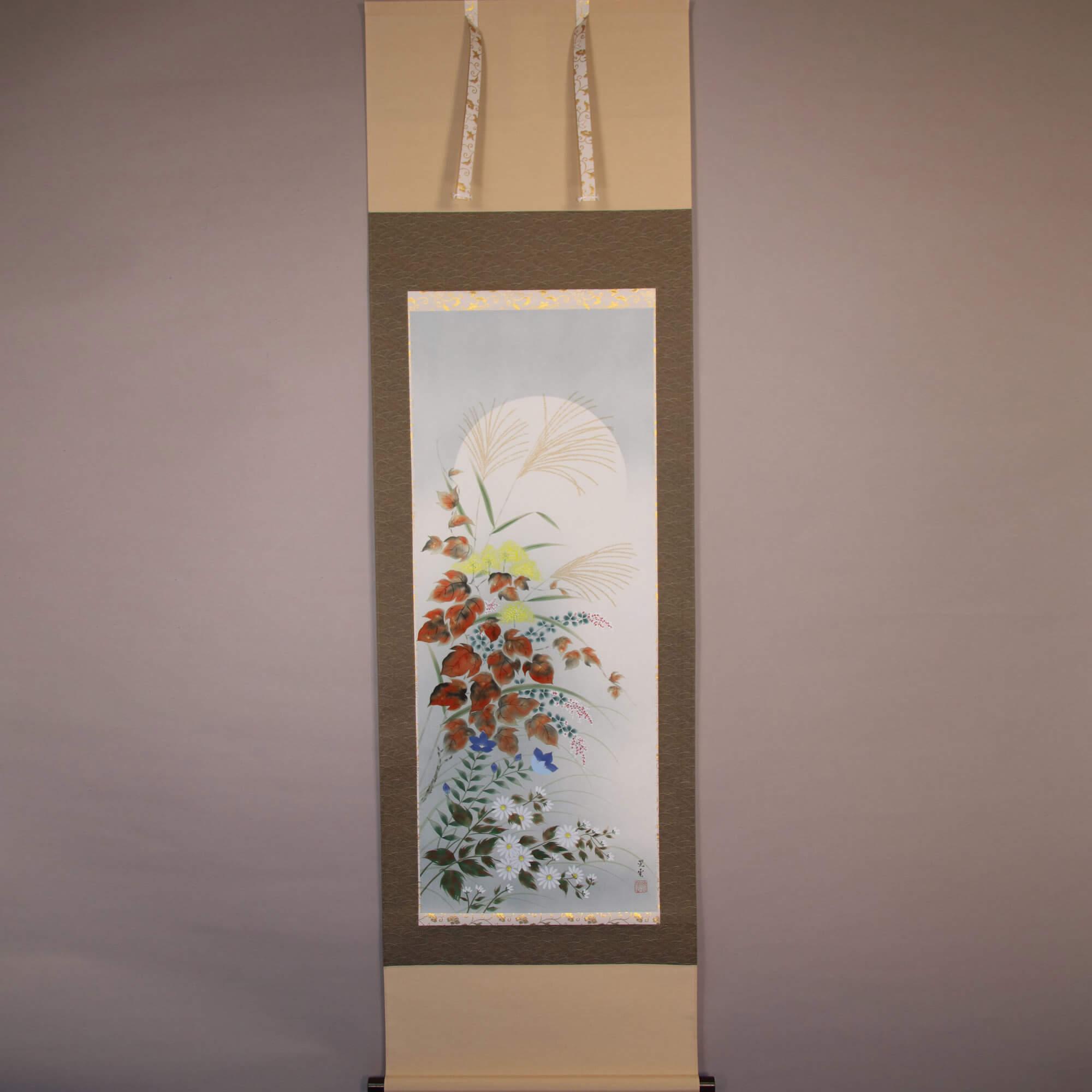 Autumn Flower and Harvest Moon / Yamamoto Kōun