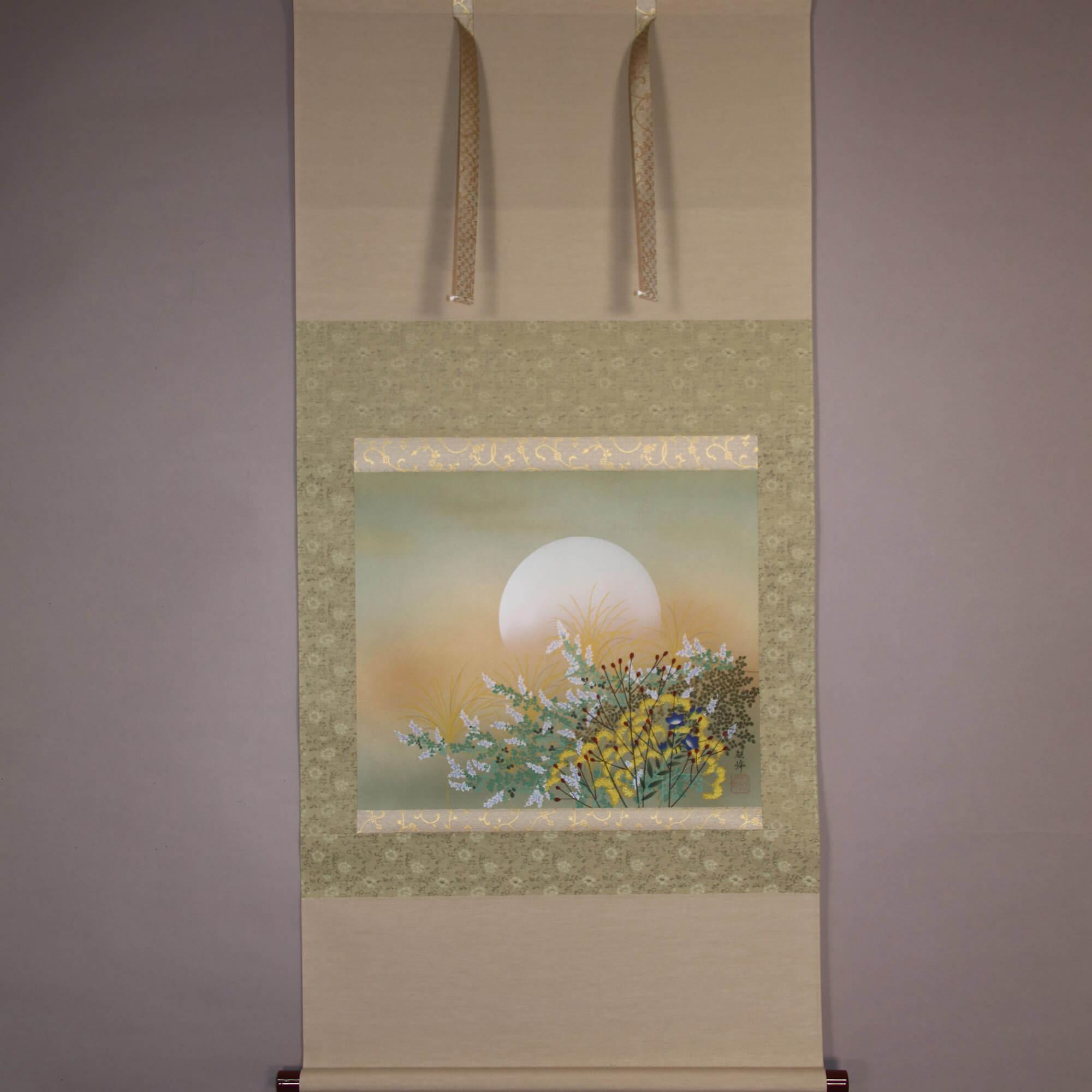 The Moon and Autumn Flower / Kawamura Kanpō
