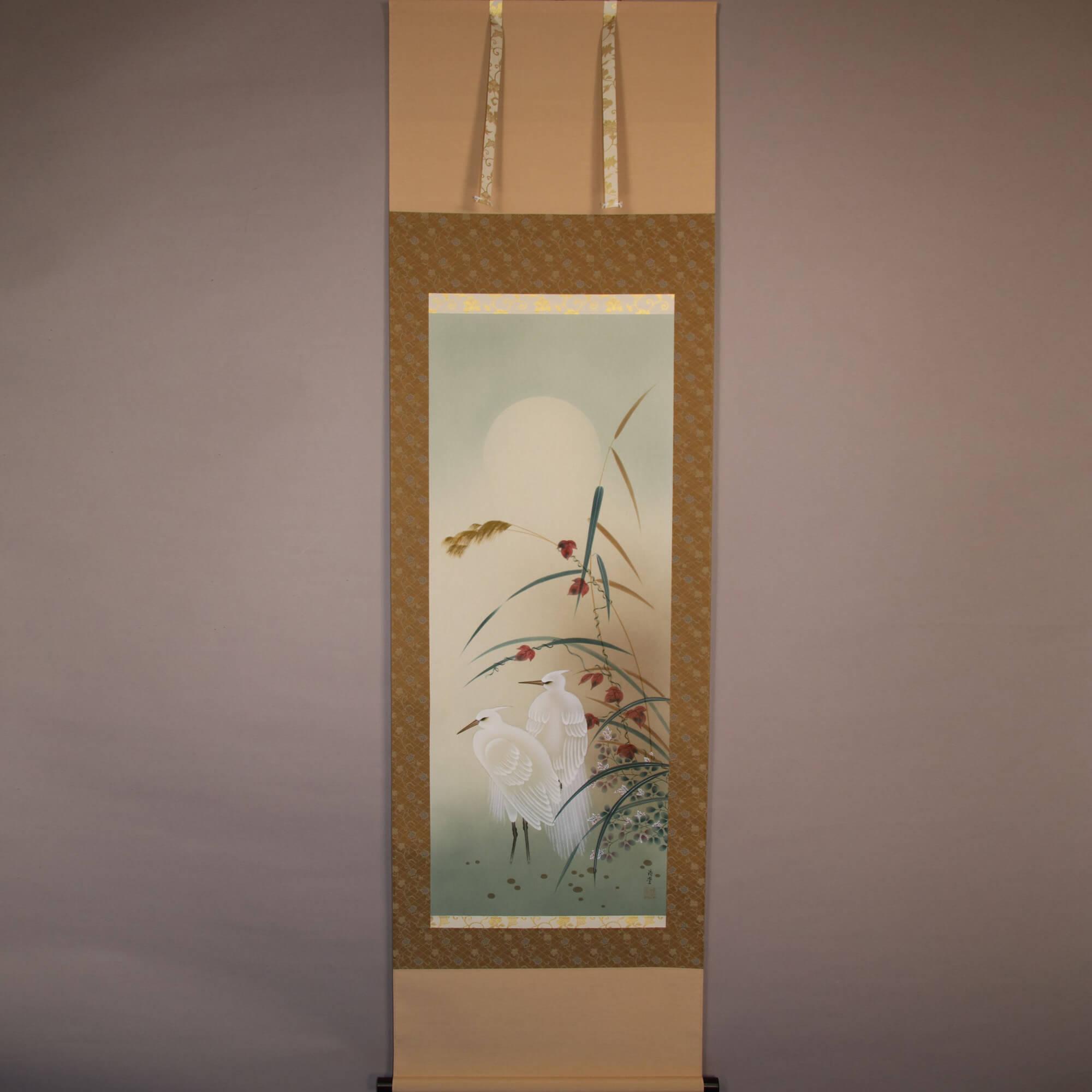Egrets under Moonlight / Sakurai Kōdō