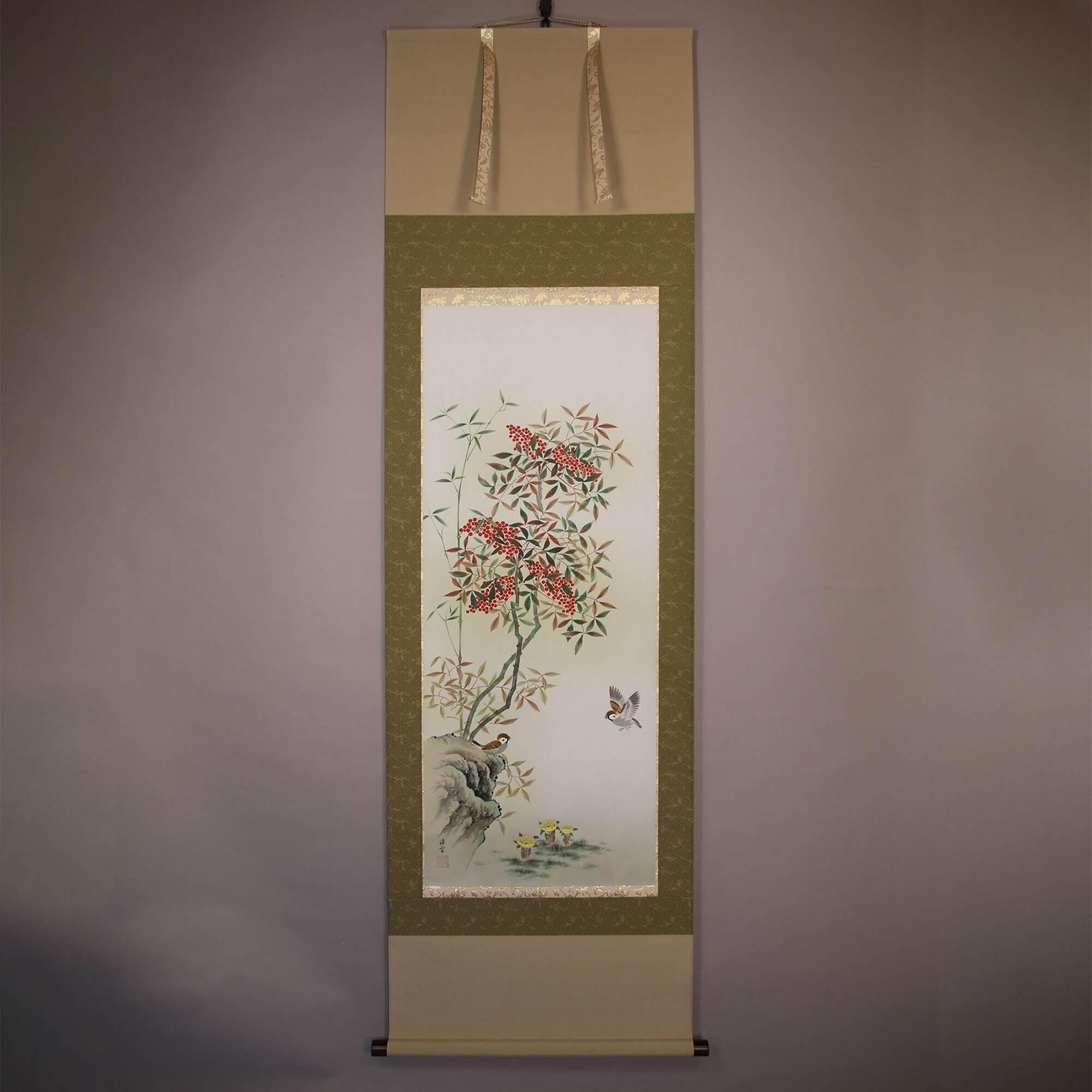 Nandina and Amur Adonis / Imamura Ryōsetsu