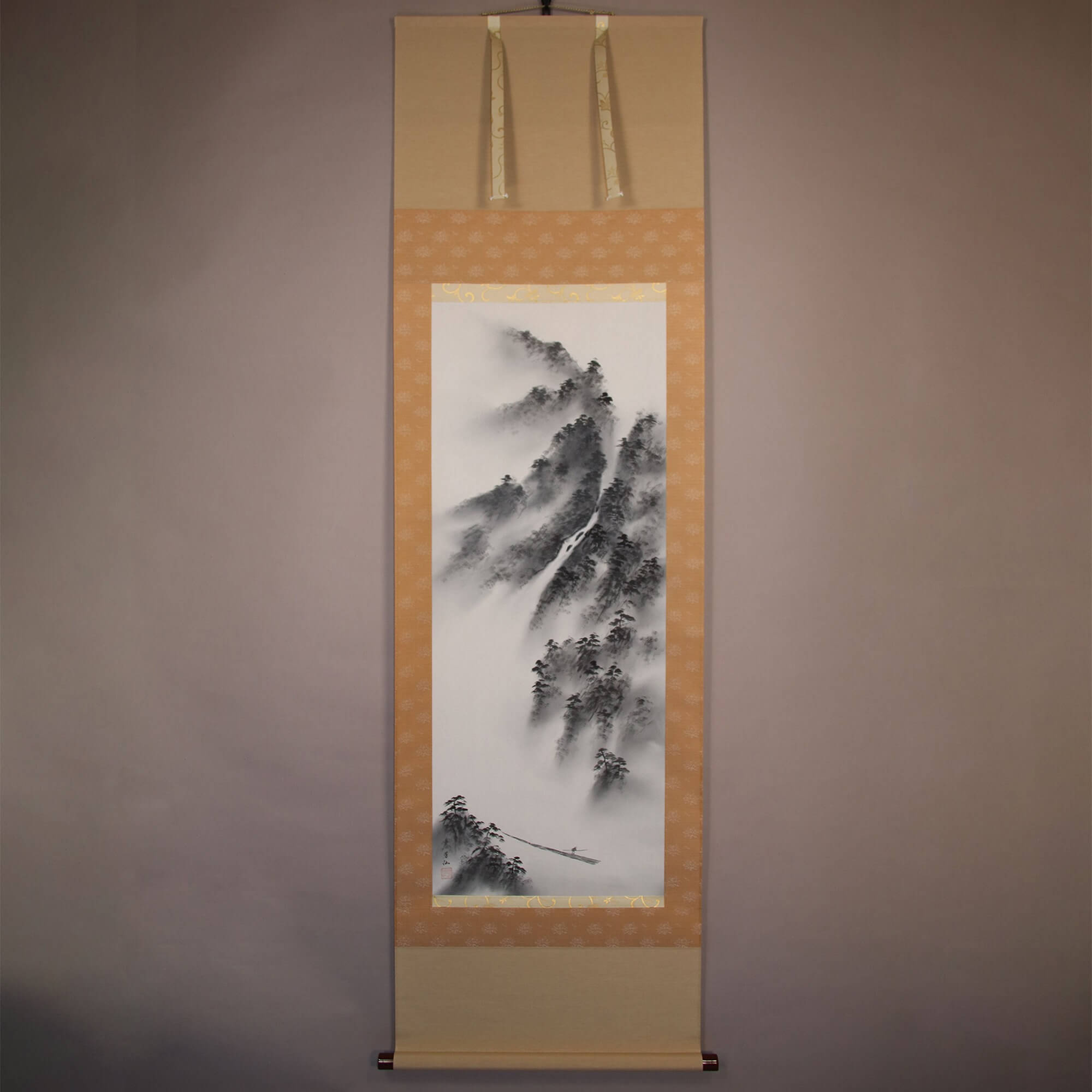 Landscape Painting in Sumi Ink / Fujiwara Hōsen