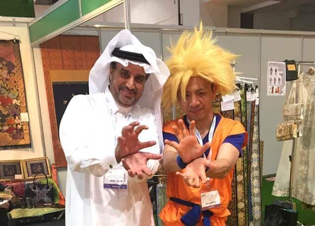 I did public relations on kakejiku in Dubai.